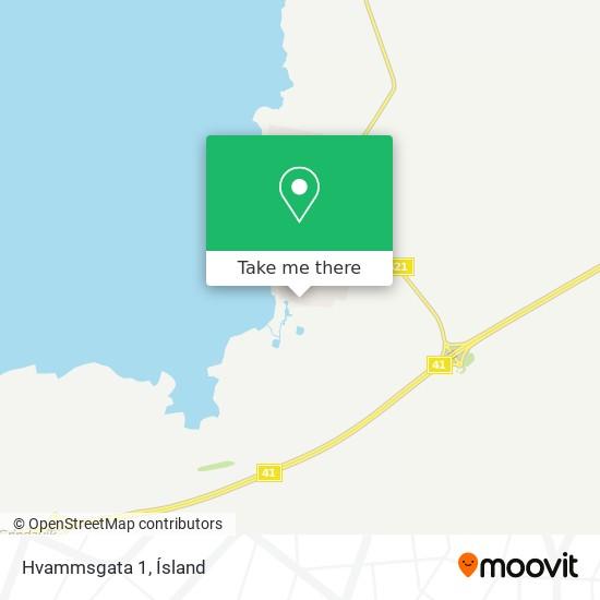 Hvammsgata 1 map