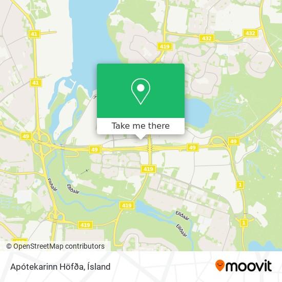 Apótekarinn Höfða map