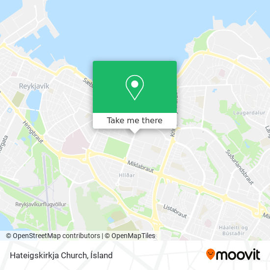 Hateigskirkja Church map