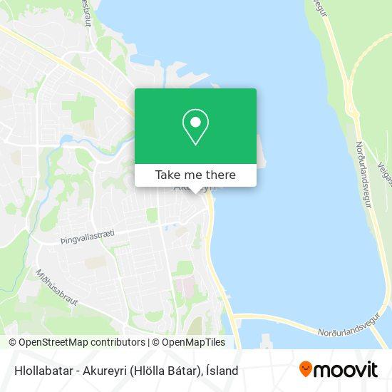 Hlollabatar - Akureyri (Hlölla Bátar) map