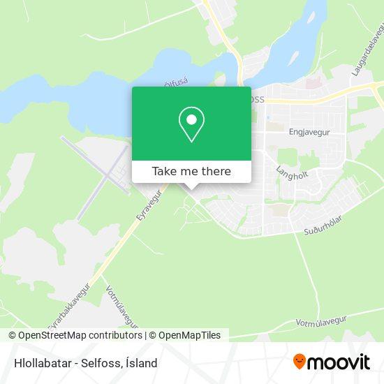 Hlollabatar - Selfoss map