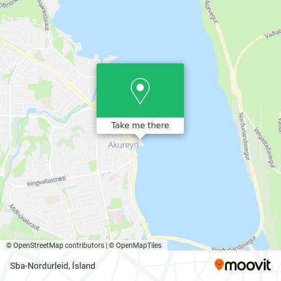 Sba-Nordurleid map