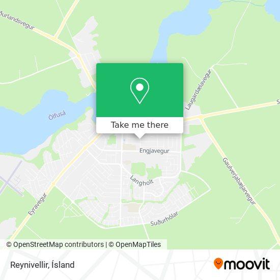 Reynivellir map