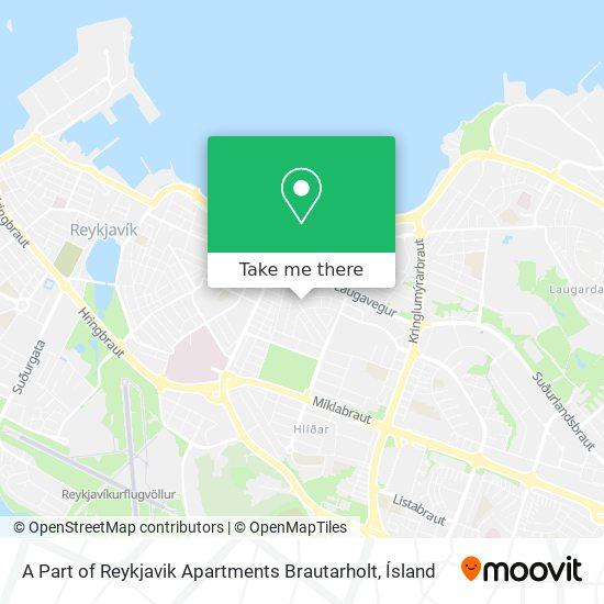 A Part of Reykjavik Apartments   Brautarholt map