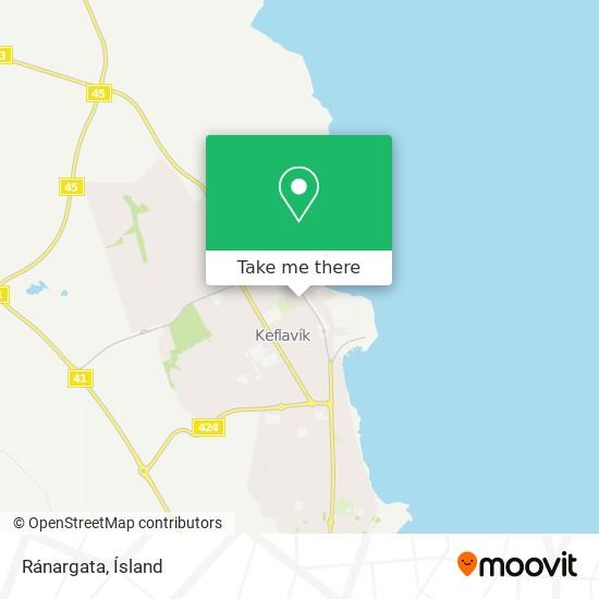 Ránargata map