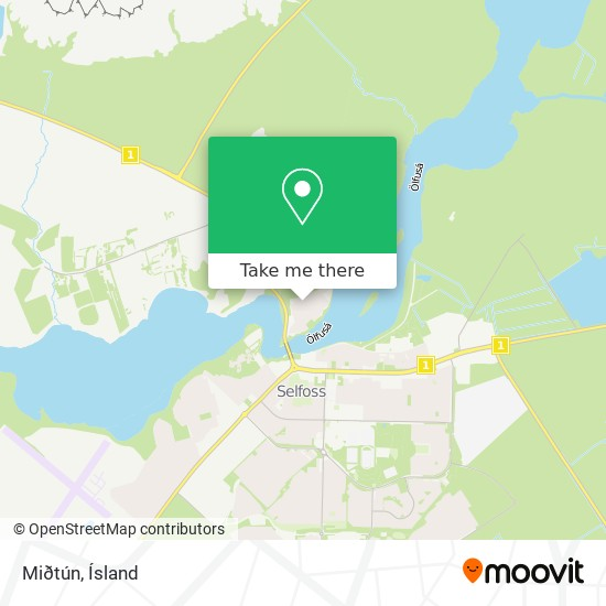 Miðtún map