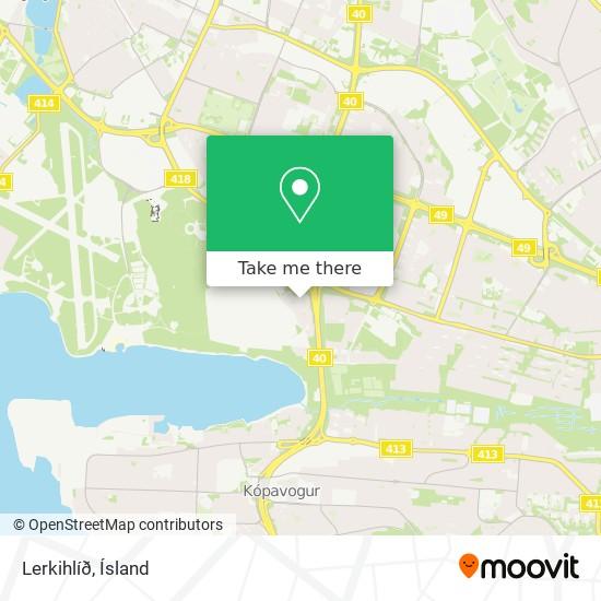 Lerkihlíð map