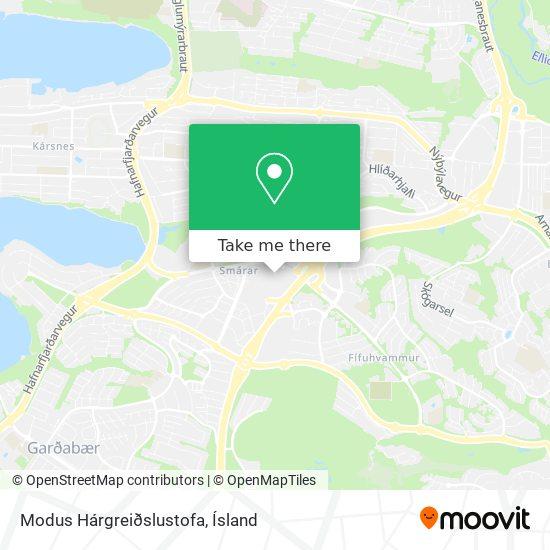 Modus Hárgreiðslustofa map