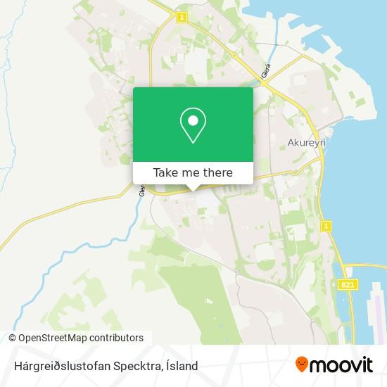 Hárgreiðslustofan Specktra map