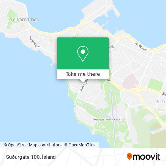 Suðurgata 100 map