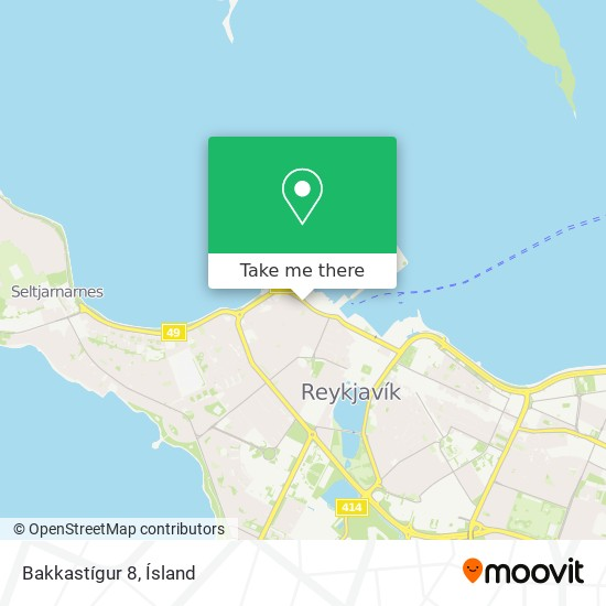 Bakkastígur 8 map
