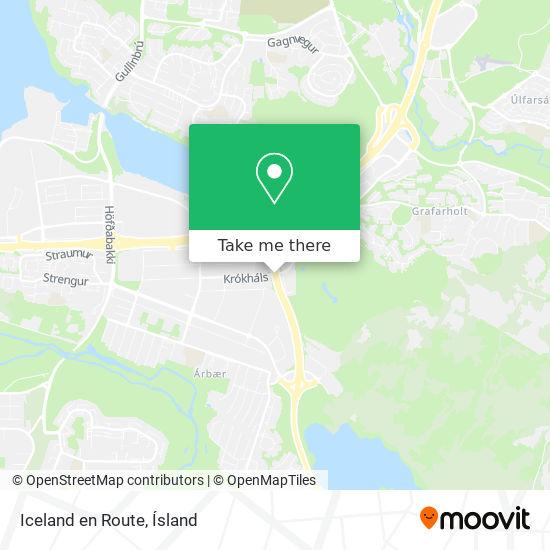 Iceland en Route map