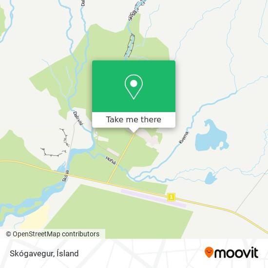 Skógavegur map