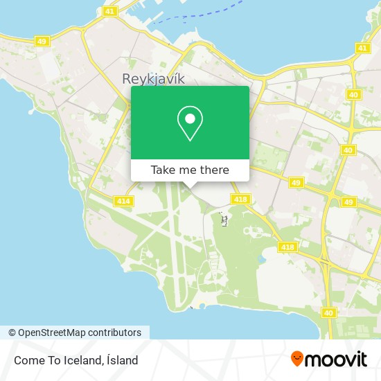 Come To Iceland map