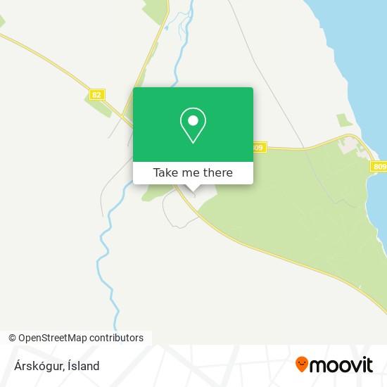 Árskógur map
