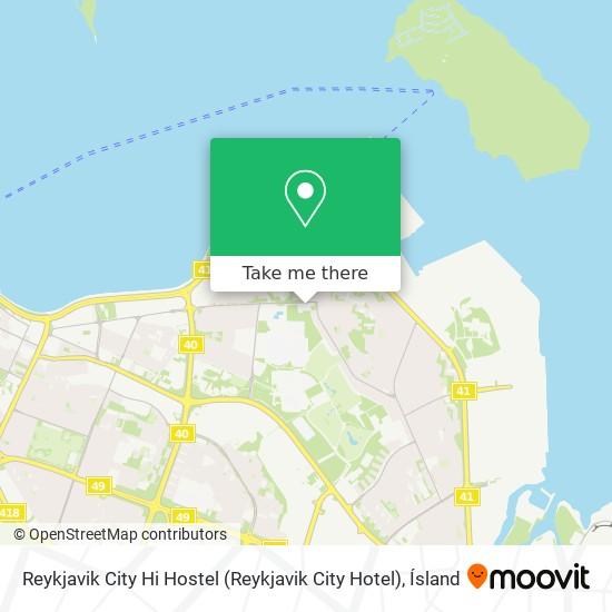 Reykjavik City Hi Hostel (Reykjavik City Hotel) map