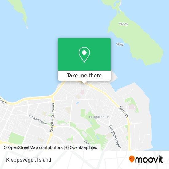 Kleppsvegur map