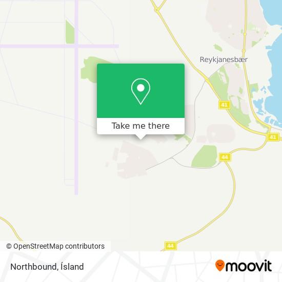 Northbound map