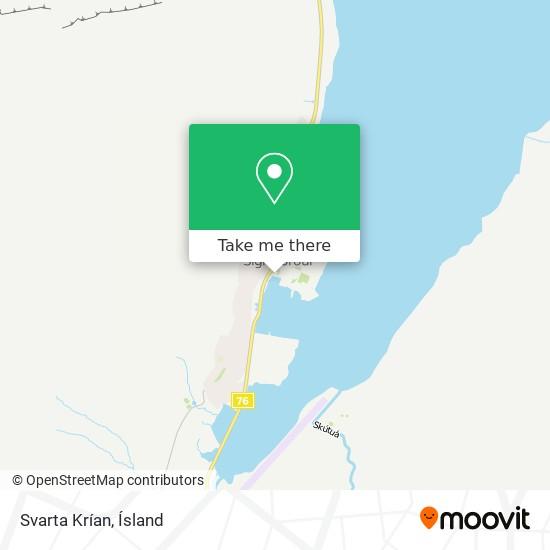 Svarta Krían map