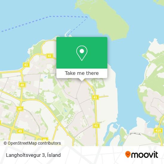 Langholtsvegur 3 map