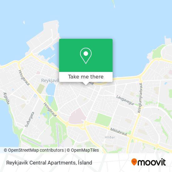 Reykjavik Central Apartments map