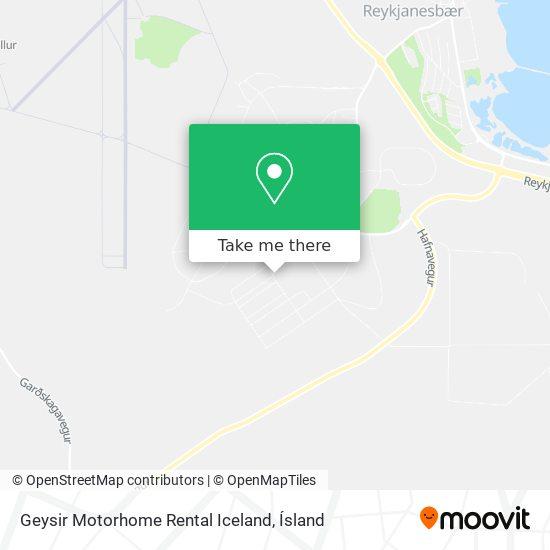 Geysir Motorhome Rental Iceland map