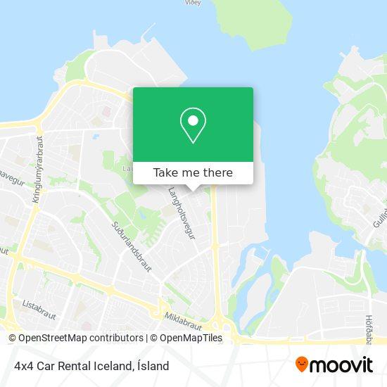 4x4 Car Rental Iceland map