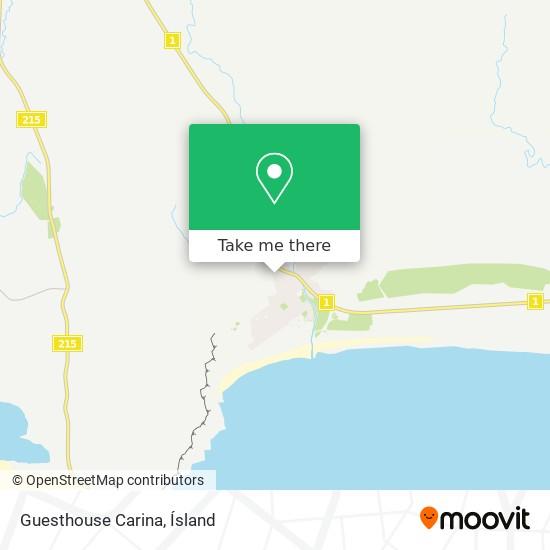 Guesthouse Carina map