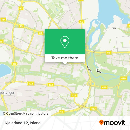 Kjalarland 12 map