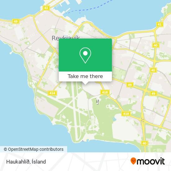 Haukahlíð map
