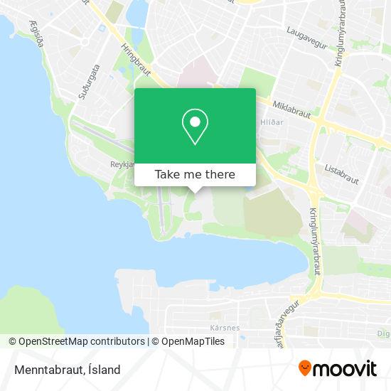 Menntabraut map