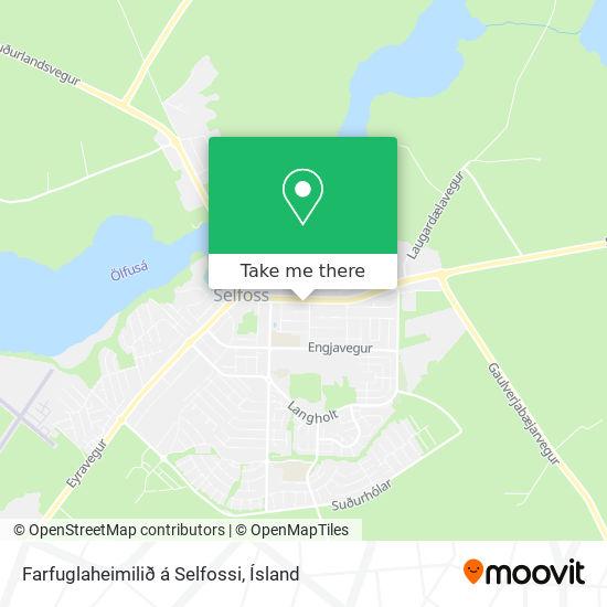 Farfuglaheimilið á Selfossi map