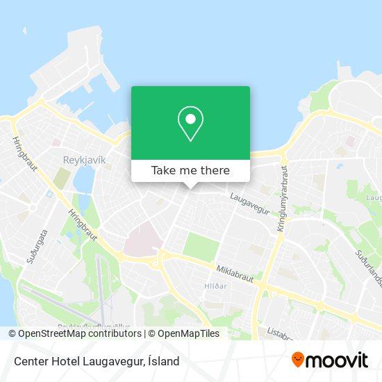 Center Hotel Laugavegur map