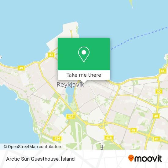 Arctic Sun Guesthouse map