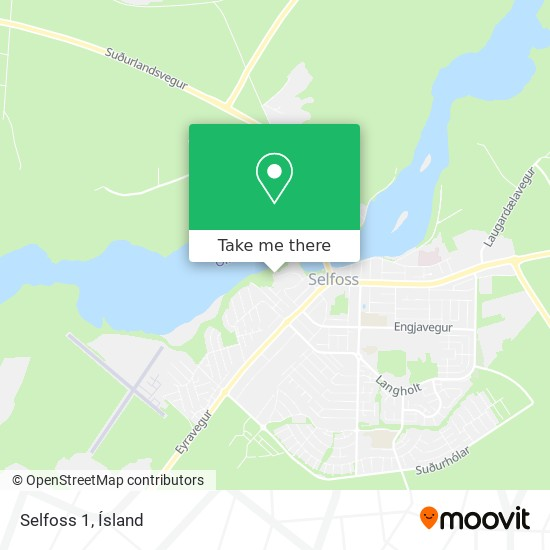 Selfoss 1 map