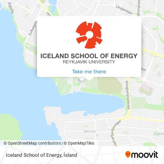 Iceland School of Energy map