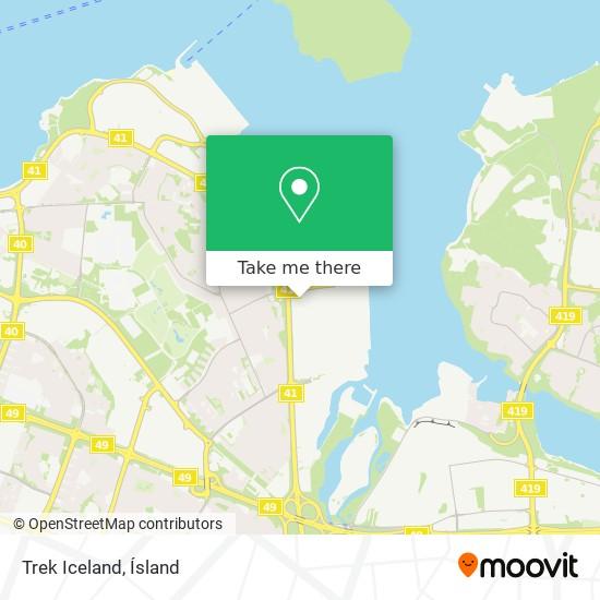 Trek Iceland map