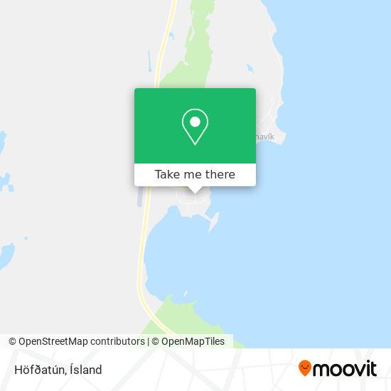 Höfðatún map