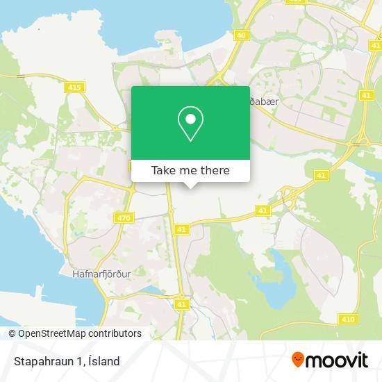 Stapahraun 1 map