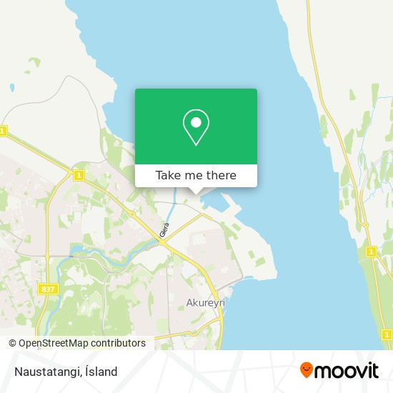 Naustatangi map