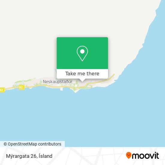 Mýrargata 26 map