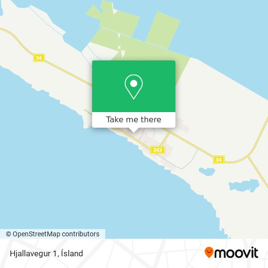 Hjallavegur 1 map