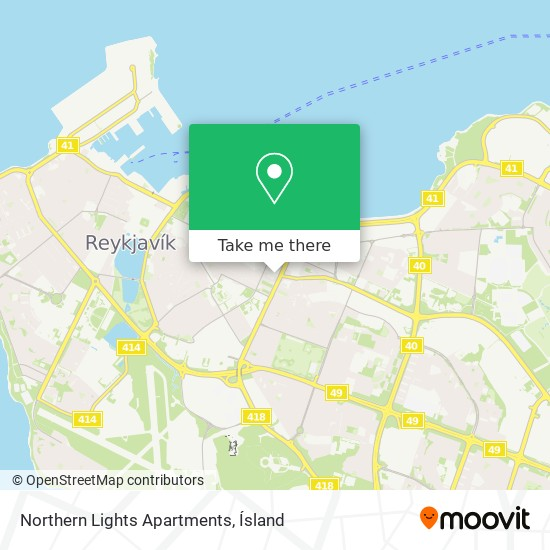 Northern Lights Apartments map