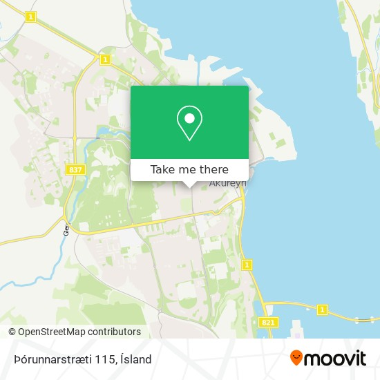 Þórunnarstræti 115 map