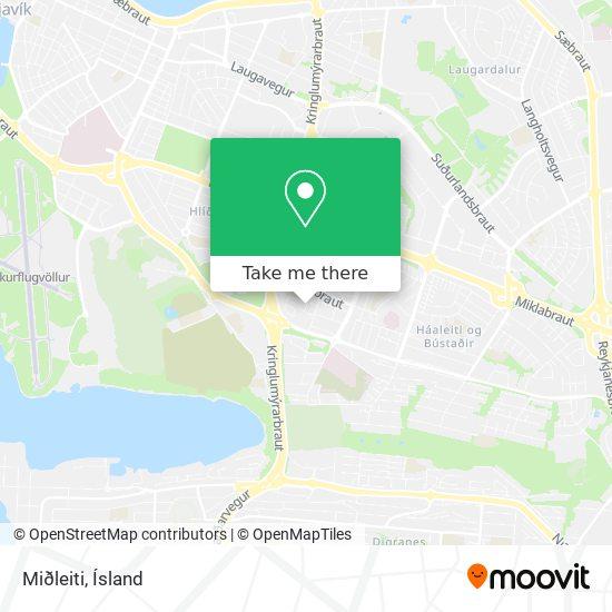 Miðleiti map