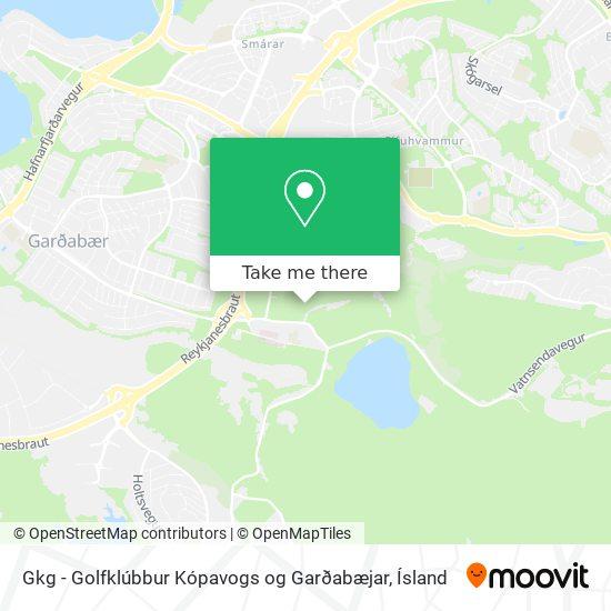 Gkg - Golfklúbbur Kópavogs og Garðabæjar map