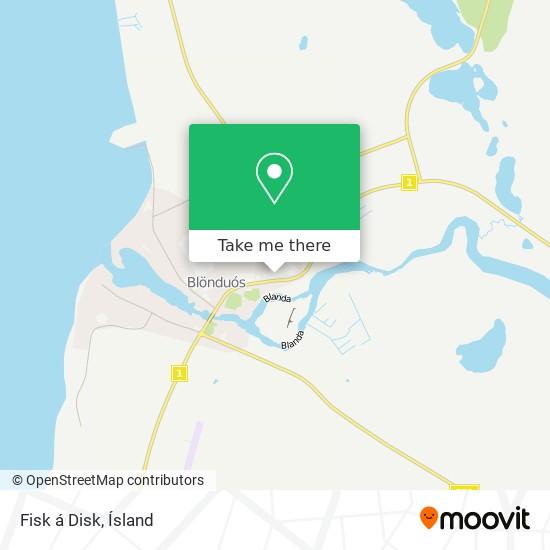 Fisk á Disk map