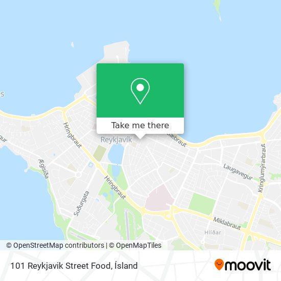 101 Reykjavik Street Food map