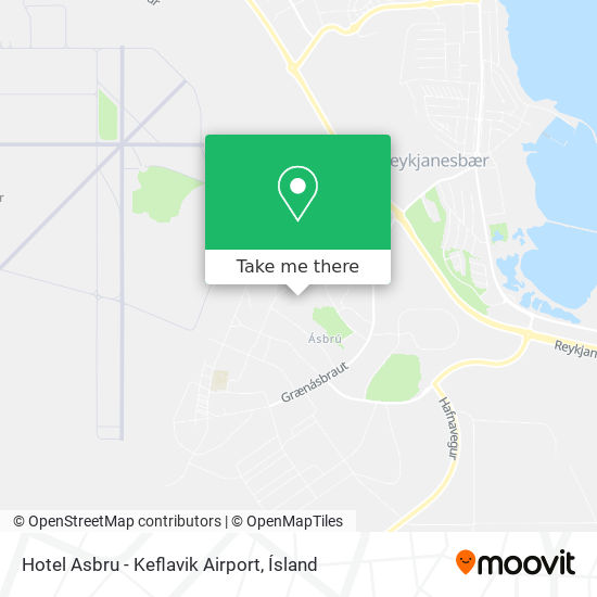 Hotel Asbru - Keflavik Airport map