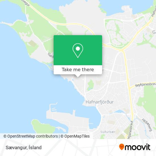 Sævangur map